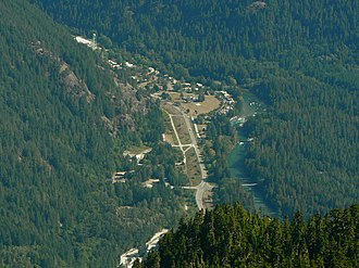 Newhalem, Washington - Newhalem from nearby Trappers Peak, North Cascades National Park