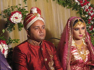 Islamic marital practices - A portrait of newly married couple from Dhaka, Bangladesh in 2014