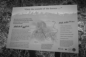 Nez Perce National Historic Trail - Nez Perce National Historic Trail reader board