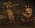 Nicolai Abildgaard - Fotis sees her Lover Lucius Transformed into an Ass. Motif from Apeleius' The Golden Ass - KMS3240 - Statens Museum for Kunst.jpg