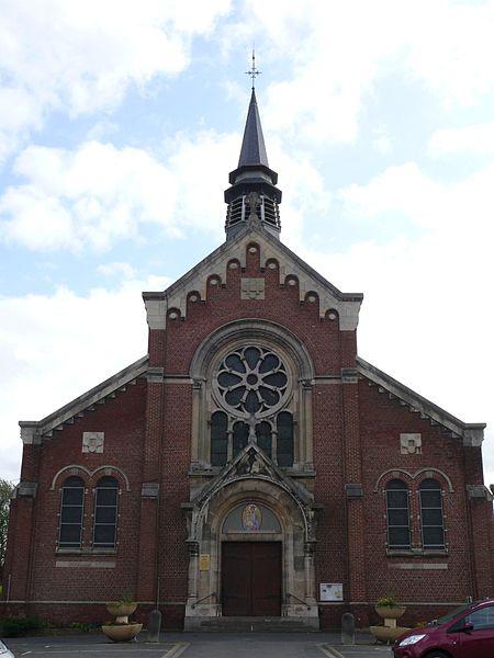 Notre-Dame de Bon-Secours' church, in Nieppe (Nord, France).