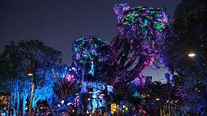 Pandora – The World of Avatar - The distinct bioluminescence of Pandora is created through a combination of color lighting, fiber optics, and blacklight effects.