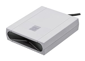 Super Scope - The receiver box that plugs into controller port, meant to sit up top of the TV.