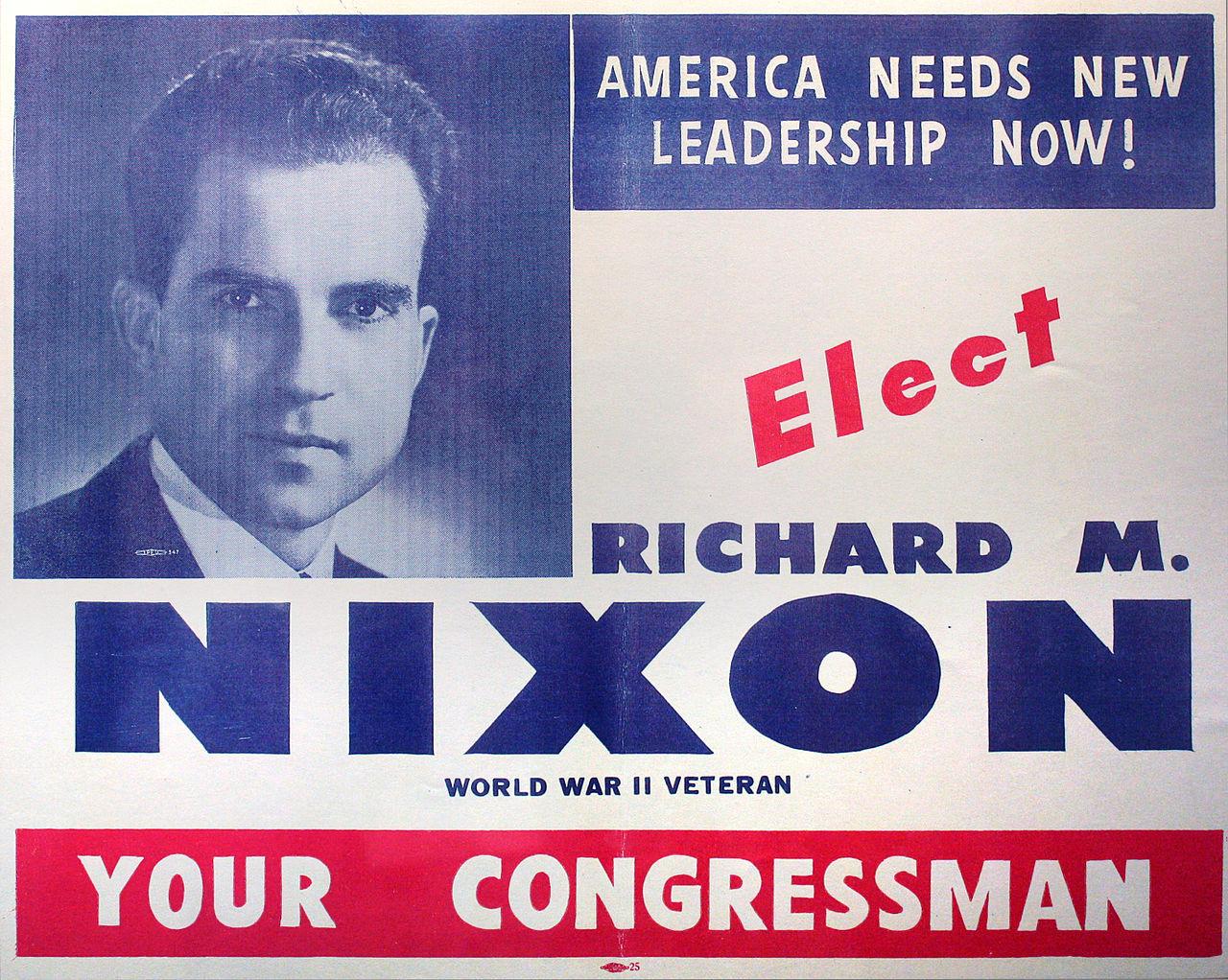 an election handout urging Nixon's election