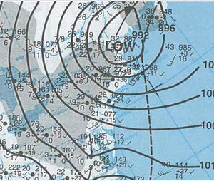 December 2000 nor'easter - Image: Nor'easter 2000 12 31 weather map