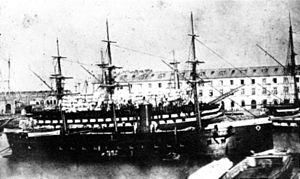 French ironclad Normandie - Image: Normandie (1862)