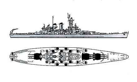 Recognition drawing of the North Carolina class North Carolina class battleship recognition drawings.jpg