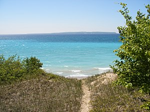 North Manitou Island - North Manitou Island: southern end of the island looking south