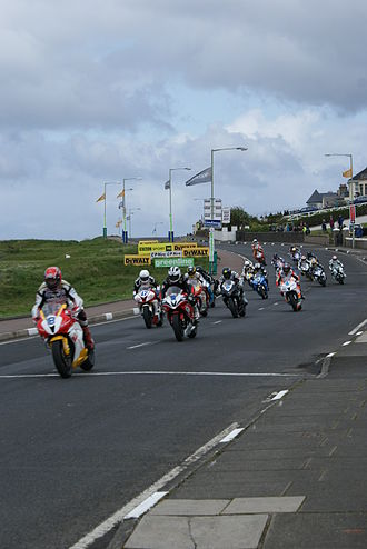 North West 200 - Riders approaching York from Juniper Hill during the 2009 event.