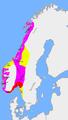 Carte: division du royaume après la bataille de Svolder en l'an mille
