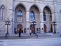 Notr Dame Basilica entrance Montreal.JPG