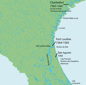 Map Of East Coast Florida.French Colonization Of The Americas Wikipedia