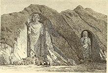 Buddha-Statue im Jahre 1896, Bamiyan