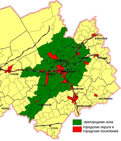 Границы пригородной зоны