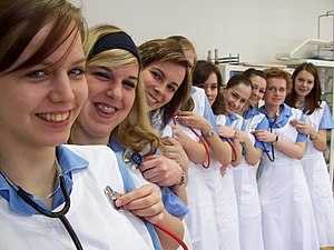 Nurse education - Image: Nursing students