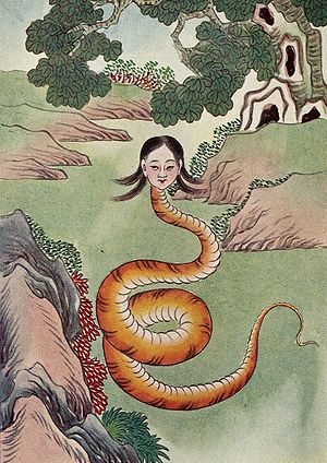 """E. T. C. Werner - An illustration from """"Myths and Legends of China, 1922"""""""