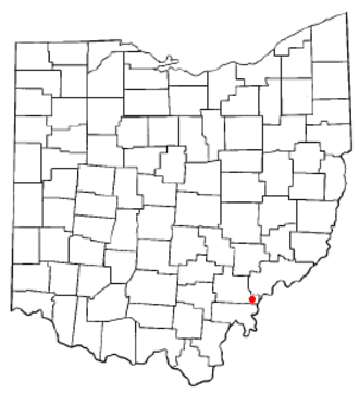 Coolville, Ohio - Image: OH Map doton Coolville