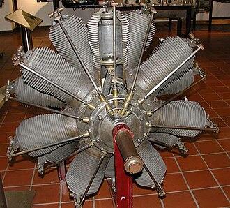 Fokker E.IV - German Oberursel U.III engine in museum