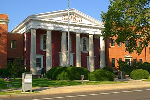 Ocean County, New Jersey - Ocean County Courthouse in Toms River, New Jersey (built 1850).