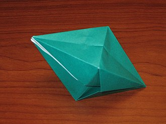 Water balloon - An octahedral paper water bomb.