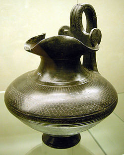 Oinochoe in bucchero etruria meridionale, fine VII, inizio VI secolo ac..jpg