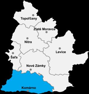 Komárno District - Image: Okres komarno