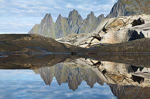 Senja - Okshornan peaks viewed from Tungeneset