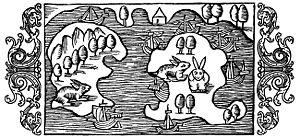 "Älvsnabben - A woodcut of Älvsnabben from Historia de gentibus septentrionalibus (""A Description of the Northern Peoples"") by Olaus Magnus, 1555."