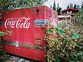 Old Coke machine at Moose Creek Lodge, Yukon (10752909673).jpg