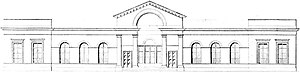 Haarlem railway station - 1842 neo-classical station by F.W. Conrad.