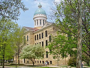 English: Old Main, Augustana College on the NR...