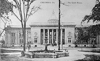 Columbus, Georgia - The Muscogee County Courthouse in 1941, which was demolished in 1973.