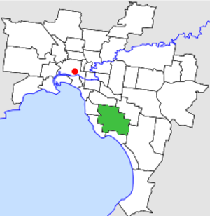 City of Moorabbin - Location in Melbourne