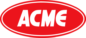 "Acme Markets - 1980s-1998 ACME logo, the ""red oval"" logo, a variant of the ""fish eye"" logo"