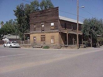 Huron, California - Huron Central Hotel in 2001