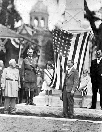 Lake City, Florida - Battle of Olustee memorial dedication in downtown Lake City on January 18, 1928.