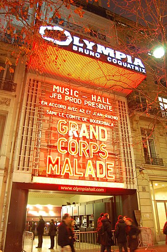 Olympia, a famous music hall Olympia facade.jpg