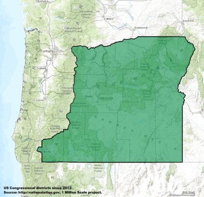 Oregon's 2nd congressional district - since January 3, 2013.