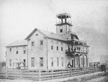 A college building in 1890