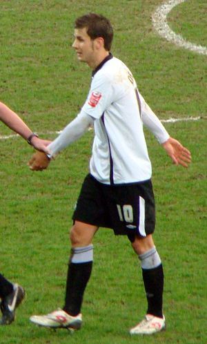 Andrea Orlandi - Orlandi in action for Swansea in 2010