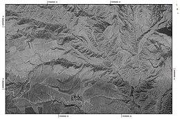 Orthorectified CORONA satellite imagery of Kornidzor, Armenia (1973-07)