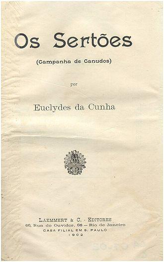 Os Sertões - Cover of first edition (paperback)