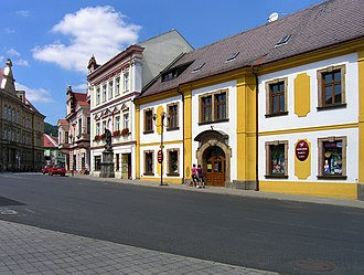 Osek (Teplice District) - Image: Osek, Klášterní sq