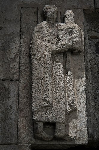 David III of Tao - David III the Great as depicted on a bas-relief from the Oshki Monastery. It was David's use of Byzantine imagery that influenced the appearance of royal power of Georgia in the following two centuries.
