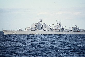Swedish Navy - The Swedish destroyer HSwMS Östergötland, decommissioned in 1982.