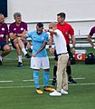 Otamendi's turn to hear it from Pep (36593750266) (cropped).jpg