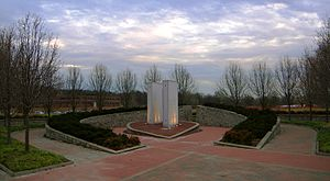 Overpeck County Park - The World Trade Center Memorial in the Henry Hoebel Area.