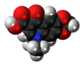 Oxolinic acid molecule spacefill.png