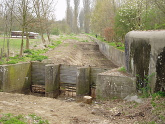 Belgium in World War II - Bunkers and anti-tank defenses of the K-W Line along the River Dijle, built in late 1939