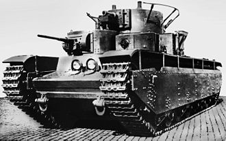 History of the tank - Soviet T-35, a five-turreted heavy tank of the 1930s